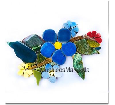 Arranjo Floral  azul