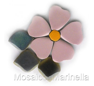 Flor do campo Rosada