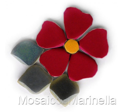 Flor do campo vermelha