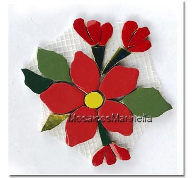 flor com botões vermelha