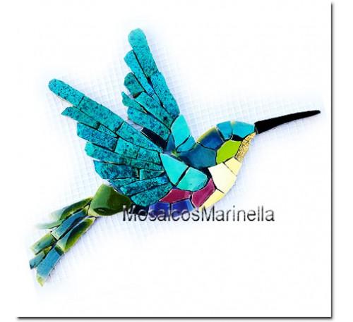 Aplique para mosaico Beija-flores-02