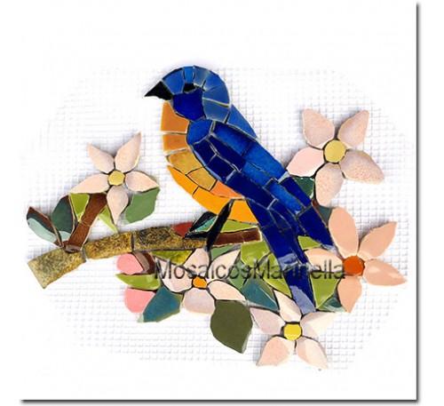 Aplique para mosaico  Blue Bird