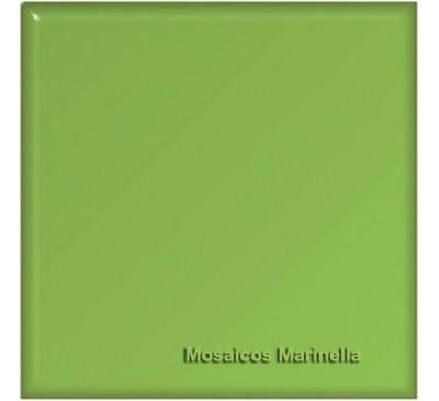 Azulejo Colorido Verde Folha