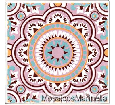 Azulejo Decorado Mandala 104