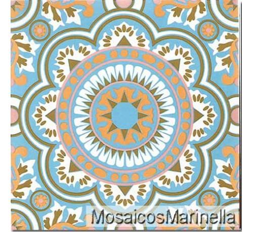 Azulejo Decorado Mandala 105