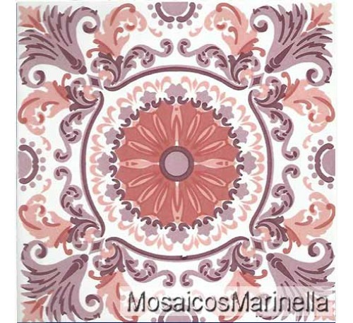 Azulejo Decorado Mandala 107