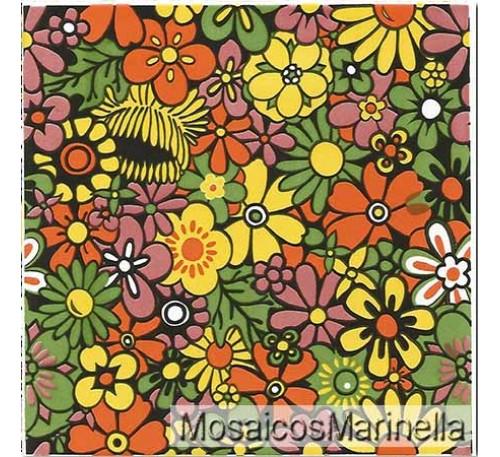 Azulejo Decorado Floral 152
