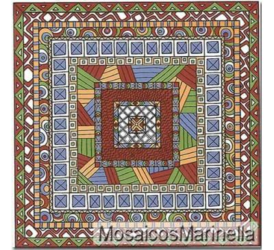 Azulejo Decorado etnico multicor