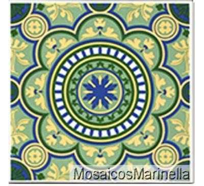 Azulejo Decorado Mandala 173