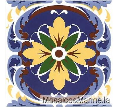 Azulejo Decorado Floral 30