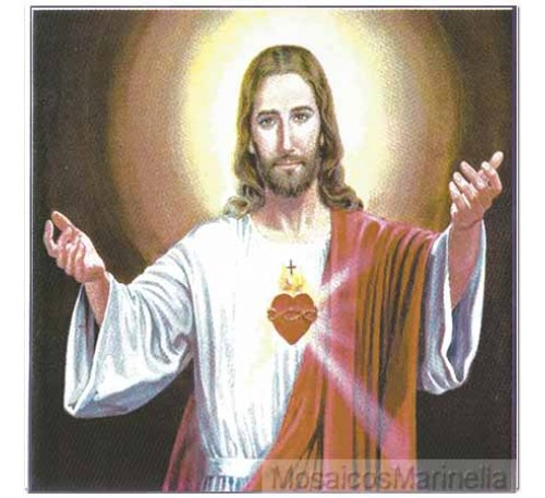 Azulejo Sagrado Coracao de Jesus