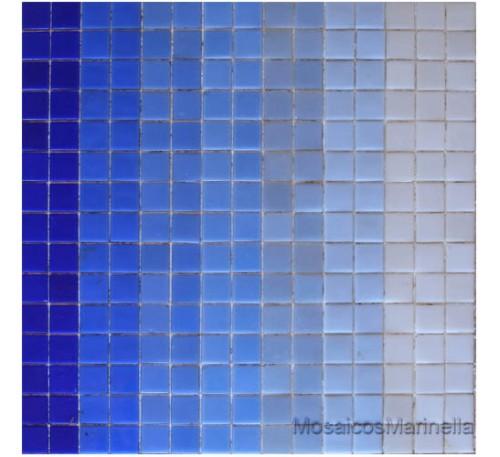 Pastilha de vidro mix  azul violáceos