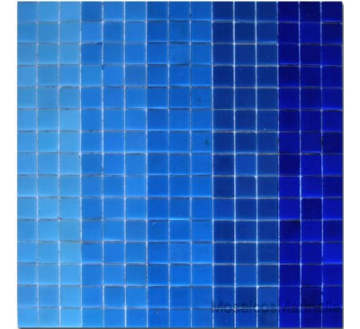 Pastilha de vidro mix azul
