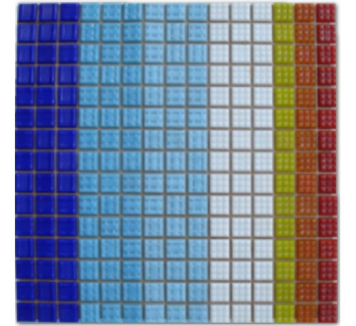 Pastilha de vidro miscelanea azul