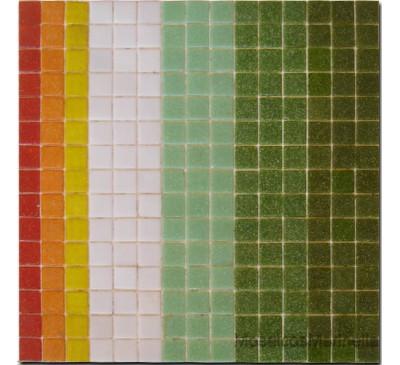 Pastilha de vidro miscelanea verde