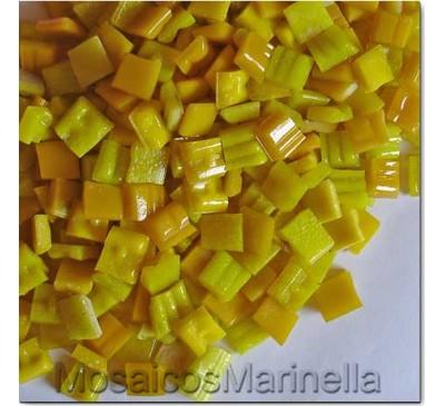 Pastilha de vidro corte manual Amarela