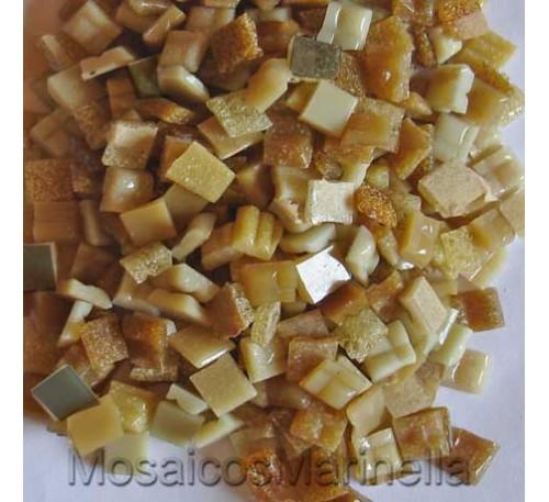 Pastilha de vidro corte manual mix castanhos
