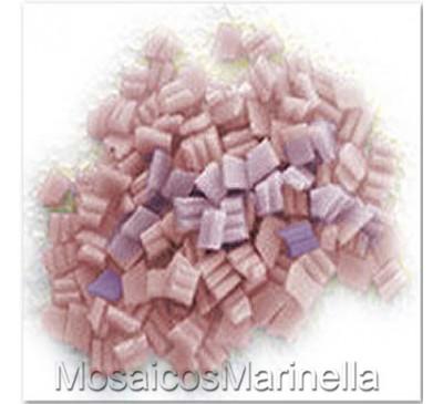 Pastilha de vidro corte manual mix rosado