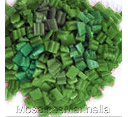 Pastilha de vidro corte manual verde