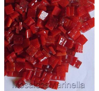 Pastilha de vidro corte manual vermelha